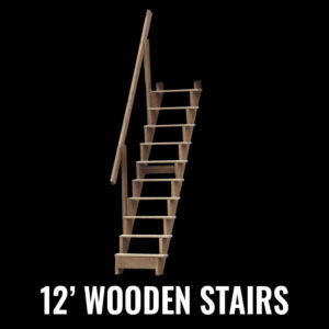 12' Wooden Stairs