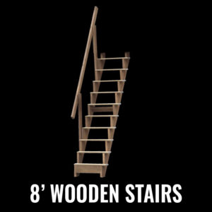 8' Wooden Stairs